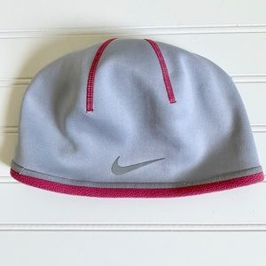 Nike Women's Therma-Fit Gray and Pink Beanie
